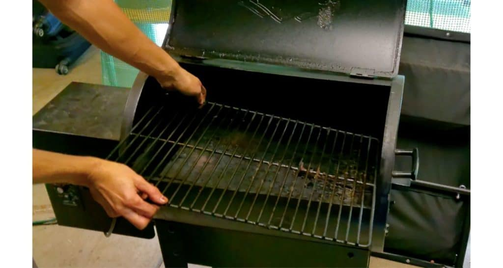 removing the grill grate